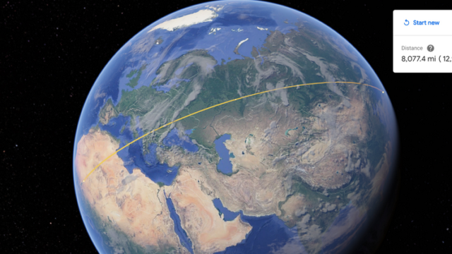 Google Earth now lets you measure distances and areas